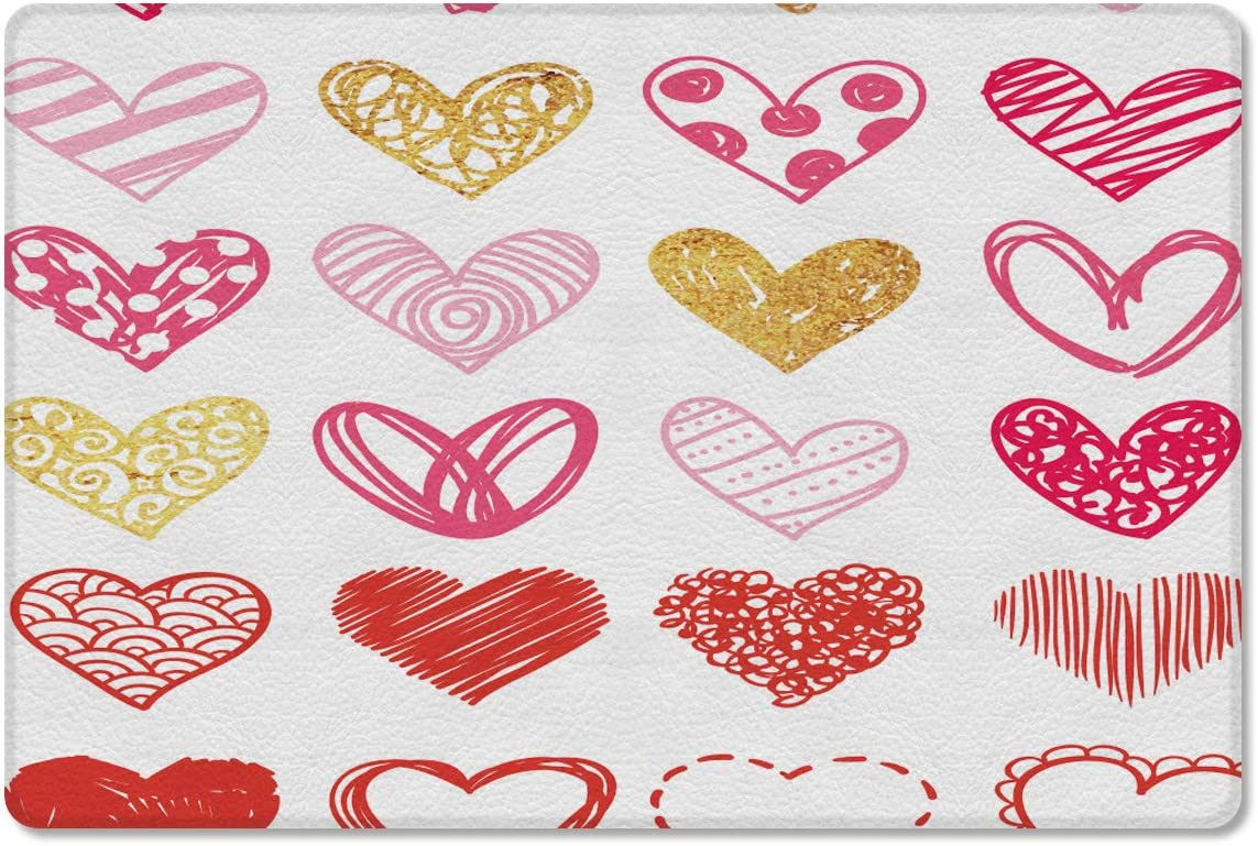 Gsypo 着後レビューで 送料無料 Cushioned Anti 新作アイテム毎日更新 Fatigue Kitchen Different Hearts Mat Patte