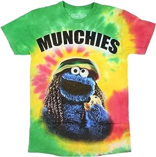 Sesame Street Cookie Monster Munchies Tie Dye Mens T-Shirt (X-Large)