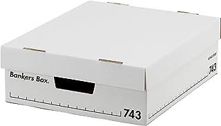 フェローズ バンカーズボックス 新743S A4サイズハーフ 黒 6枚1セット 収納ボックス ふた付き 1007801
