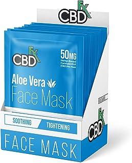 CBDfx Aloe Vera CBD Face Mask - 50mg CBD (10 Mask Pack)