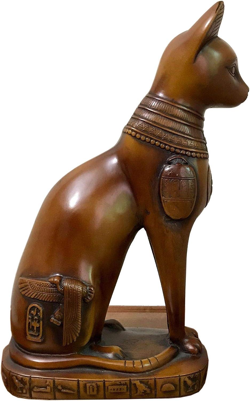 Zyh-hyz Egyptian Cat Statue Sculpture Bast Decoration Fi Over item handling Max 90% OFF ☆