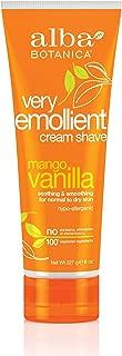 Alba Botanica Very Emollient Mango Vanilla Shave Cream, 8 oz.