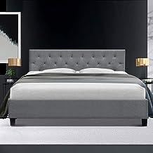 Artiss King Bed Frame Fabric Upholstered Bed Base VANKE, Grey