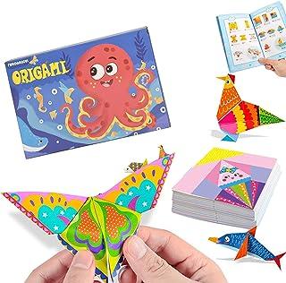 Kisem Doble Cara Papel de Origami, Doble Cara, 14 x 14cm, contiene 152 Origami Cara y 72 Páginas Que Enseña Libro De Origa...
