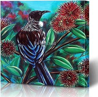 Ahawoso Canvas Prints Wall Art Printing 8x10 Humor Union Tui Britain in Great Boston Thanksiving Happy Ski Turkey Beach Pohutukawa Give Lover Rex Painting Home Living Room Office Bedroom Dorm