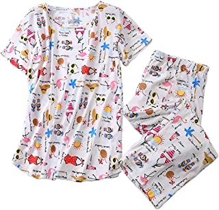 Women's Sleepwear Tops with Capri Pants Pajama Sets
