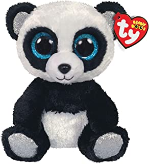 Claire's Official Ty Beanie Boo Soft Toys Plush Stuffed Animal Collectables (Bamboo The Panda)