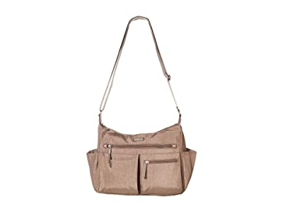 Baggallini New Classic Heritage Anywhere Large Hobo with RFID Phone Wristlet (Portobello Shimmer) Hobo Handbags
