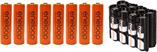 Eneloop 4th Generation AA NiMH Pre-Charged Rechargeable Battery Pack of 8