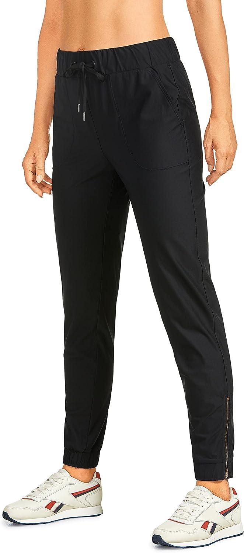 CRZ Luxury YOGA Women's Lightweight Joggers Max 62% OFF Drawstring Zipper Ank Pants