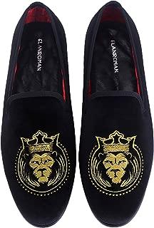 ELANROMAN Men's Velvet Dress Loafers Shoes