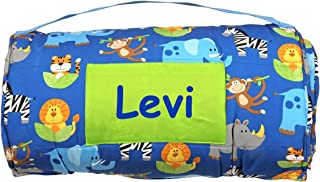 Stephen Joseph Personalized All-Over Zoo Animals Print Childs Nap Mat