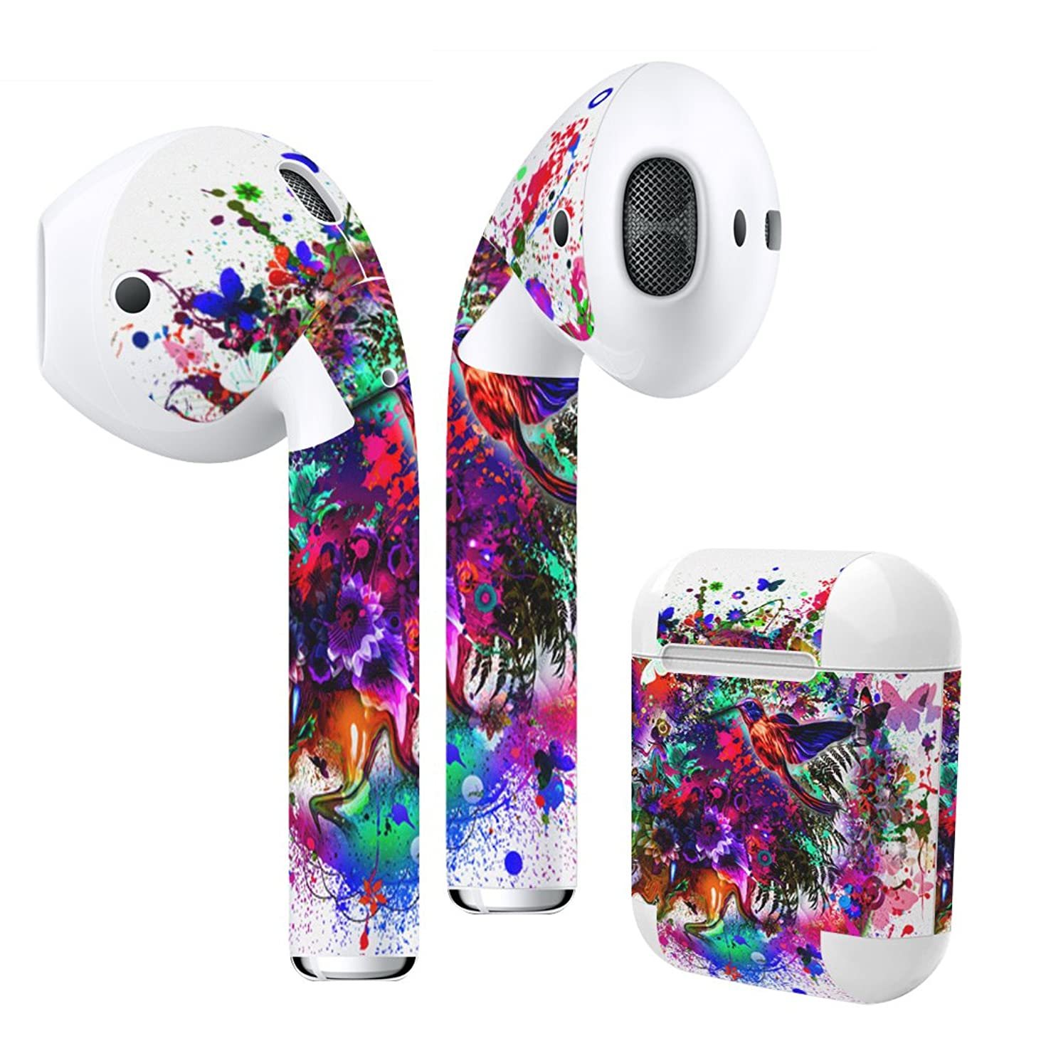 Airpods Skin + Case Skin Sticker Skin Decal for airpod Compatible with AirPods 1st(2016) and 2nd(2019) Stylish Covers for Protection & Customization 012273