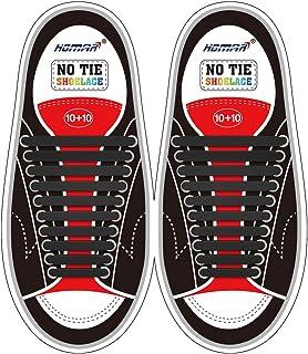 comprar comparacion HOMAR Cordones de Zapatos para Niños y Adultos Cordones Elásticos Silicona para Corredores