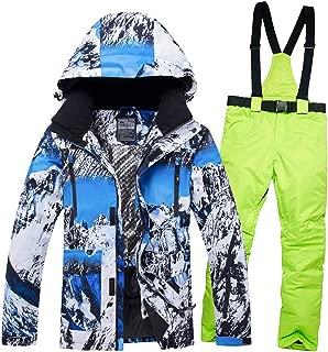Warm Men Ski Suit Waterproof Breathable Windproof Outdoor Sport Wear Skiing Snowboard Jacket+Pant