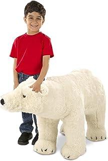 Melissa and Doug MD8803 Giant Stuffed Animal Toy Polar Bear Toy