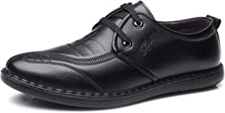 DADIJIER Zapatos Casuales para Hombres de Puntada Redondos de Puntada de 2 Ojos Encaje hacia Arriba Pull Pull Flats espesa...