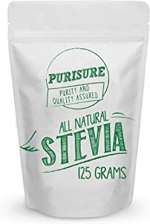 All Natural Stevia Powder 125g (846 Servings), Highly Concentrated Pure Extract, No Fillers, Additives or A...