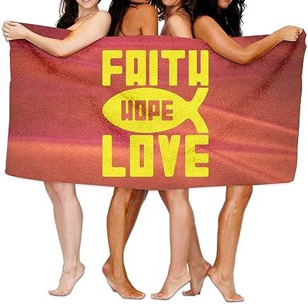 Faith, Hope and Love Over-Sized Cotton Batch Towel