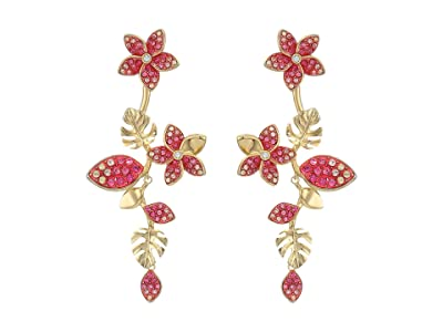 Swarovski Tropical Flower Pierced Earrings (Light Multi) Earring