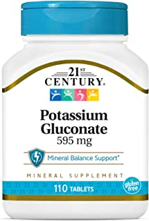 21ST CENTURY Potassium 595 Mg Tablets, (Pack Of 3)