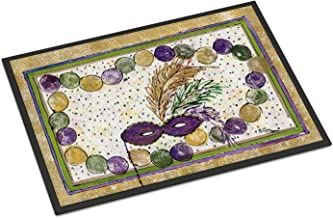 "Caroline's Treasures Mardi Gras Beads Indoor or Outdoor Doormat, Multicolor, 18"" x 27"""