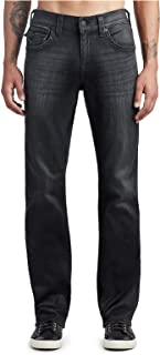 True Religion Men's Straight Fit Stretch Denim Jeans in Dark Dust