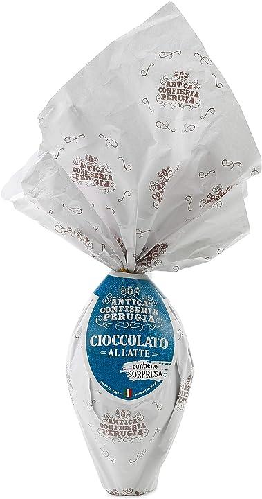 Uovo di pasqua cioccolato artigianale al latte antica confiseria perugia [200g] - speciale italia B06W2NRD9X