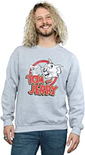 Absolute Cult Tom and Jerry Men's Distressed Logo Sweatshirt