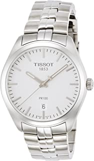 Tissot PR100 Silver Dial Stainless Steel Quartz Men's Watch T1014101103100