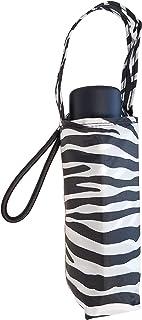 "Totes Micro Mini Manual Compact Umbrella, NeverWet technology, Zebra, 38"" arc Coverage"