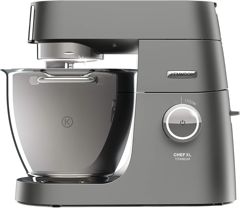 Immagine di Kenwood KVL8320S Chef Titanium SYSTEM PRO Impastatrice Planetaria, Robot da Cucina Mixer, con Frullatore, 1700 W, 6.7 Litri, Acciaio, Plastica, Argento, 38 x 28.5 x 35.6 cm Impastatrice + Frullatore