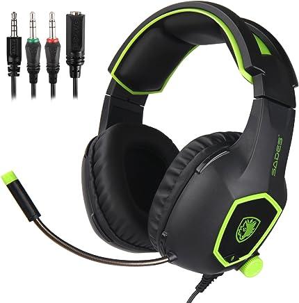 SADES SA818 Xbox One PS4 PC Gaming Headset Cuffie Gaming Over Ear con microfono per PS4, PS4 PRO, Xbox One, Xbox One S, laptop Mac Tablet iPhone iPad iPod (nero e verde) - Trova i prezzi più bassi