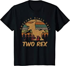 Kids 2nd Birthday Two Rex Gift Second Dinosaur Gifts 2 Year Old T-Shirt