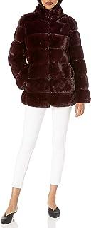 Via Spiga Women's Grooved Faux-Fur Reversible Jacket