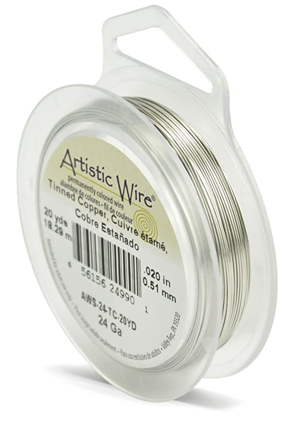 Artistic Wire 24-Gauge Tinned Copper Wire, 20-Yards