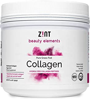 Zint Collagen Peptides Powder (14 Ounce): Hydrolyzed Collagen Protein Powder Beauty Supplement - Skin, Hair, Nails