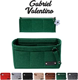 Purse Organizer Insert | Felt Insert Handbag Organizer For Women Bag | Bag Organizer Insert With Multi Storage Options | Fits Neverfull - Speedy & Tote Bags | Green |