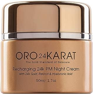 ORO24KARAT Retinol Night Cream with 24k Gold, Anti-Aging Formula with Hyaluronic Acid