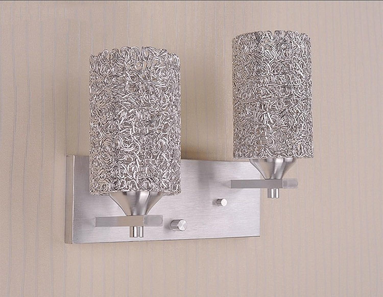Europische Aluminium Wandlampen, Moderne Minimalistische LED-Beleuchtung Dekorative Wandleuchte Mode Wohnzimmer Schlafzimmer Esstisch Nachtwandleuchte, 1 2 Lichter (Design   2HEADS)