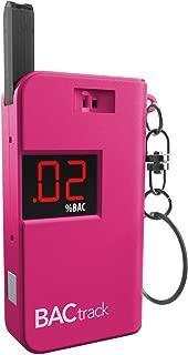 BACtrack Keychain Breathalyzer Portable Keyring Breath Alcohol Tester, Pink