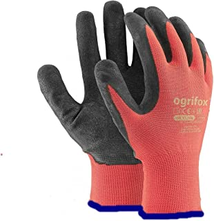 24 PAIRS NEW LATEX COATED WORK GLOVES SAFETY DURABLE GARDEN GRIP BUILDERS (M - 8)