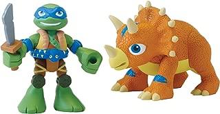 Teenage Mutant Ninja Turtles Pre-Cool Half Shell Heroes Dino Leonardo and Triceratops Figures