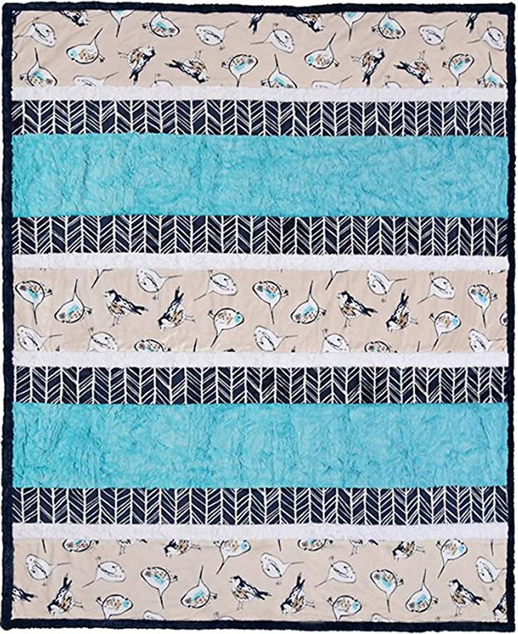 Minky Crazy 8 Wing It Cuddle Kit Quilt Kit Shannon Fabrics