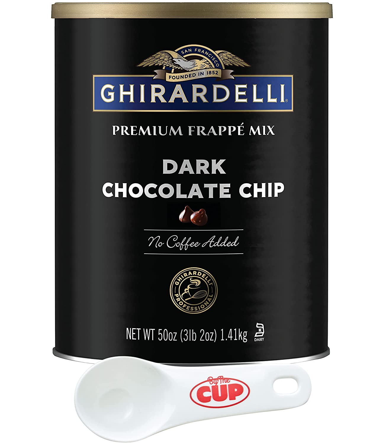 Ghirardelli Premium Frappe Mix Dark Chocolate oz 50 Max 77% OFF Pa Fees free!! Chip Can