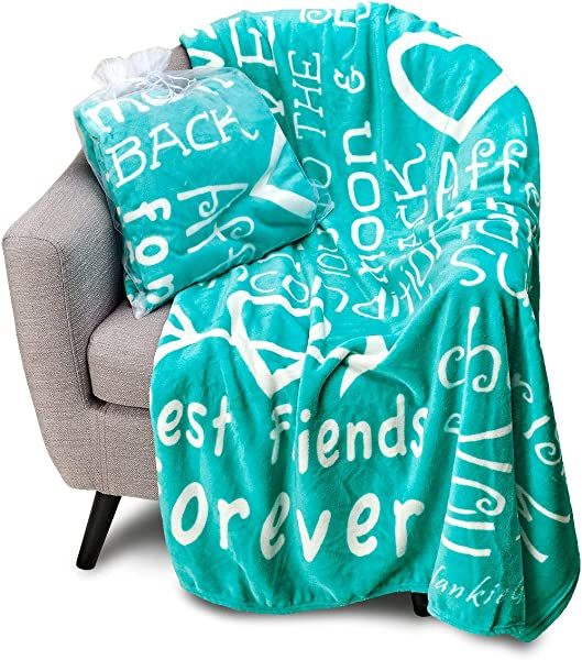 Blankiegram I Love You Throw Blanket The Perfect Caring Gift For Best Friends Couples Family Teal