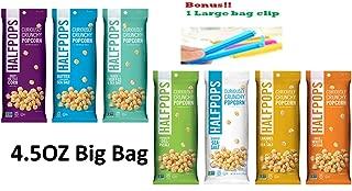 Halfpops Gluten Free Non-GMO Curiously Crunchy Popcorn 4.5oz 7 Flavor Variety Each1 (Pack of 7) (7 All Flavor Variety)