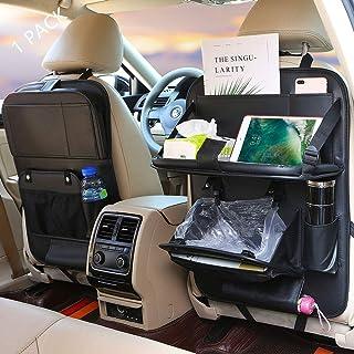 منظم اغراض لمقعد السيارة الخلفي، سلة مهملات للسيارة، منظم لمقعد السيارة الخلفي، طاولة طعام قابلة للطي مع حامل تابلت، منظم ...