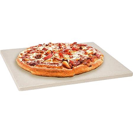 LEVIVO Pierre à Pizza pour four et gril, en cordiérite résistant à la chaleur, pour la préparation de la Pizza, du Pain, de la Tarte flambée et autres