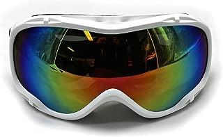White Frame - Adult's Ski Snowboarding Sknowboard Skating Outdoor Motorcycle ATV Quad Bike Sports GOGGLES Dual lens Anti-fog Snow Dual Lens 100% UV400 Protection for Men & Women